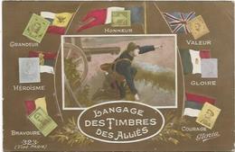 TIMBRES.  LE LANGAGE DU TIMBRE  DES ALLIES - Stamps (pictures)