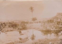 Deux Photos 1903 L'oued Dermel à Hadjerat El M'guil Légion étrangère Militaire - Guerra, Militari