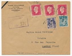FRANCE - Env. Affr Composé Dulac + Iris + Blason - Recommandée Provisoire De Lille RP + 1946 - 1944-45 Maríanne De Dulac