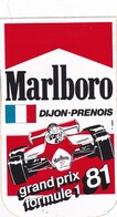 Autocollant Publicitaire - Sports - F1 - Automobile - Tabac MARLBORO - DIJON-PRENOIS ,1981 - Autocollants