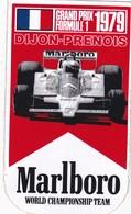 Autocollant Publicitaire - Sports - F1 - Automobile - Tabac MARLBORO - DIJON-PRENOIS ,1979 - Autocollants