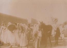 Photo D'un Mariage Arabe à Géryville Algérie La Mariée Sur Sa Mule La Musique - Luoghi