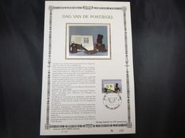 "BELG.1986  2210 FDC Filatelic Card NL Zijde/soie ( Bruxs ) : "" Journée Du Timbre / Dag V/d Postzegel "" - 1981-90"