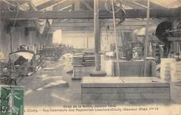 CPA 92 CLICHY VUE INTERIEURE DES PAPETERIES LEVALLOIS CLICHY CRUE DE LA SEINE 1910 - Clichy