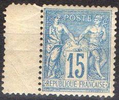 """FRANCE ( SAGE N/U ) : S&P N° 101a  """" N SOUS U """"  TIMBRE  NEUF  SANS  TRACE  DE  CHARNIERE , ROUSSEUR A VOIR . R 7 - 1876-1898 Sage (Type II)"""