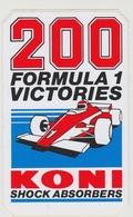 Sticker: Formula 1 - Formule 1 Victories KONI Shock Absorbers - Automobile - F1