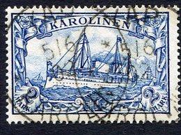 Allemagne, Colonie Allemande, Carolines, Karolinen, N°17 Oblitéré, Qualité Superbe - Colony: Caroline Islands