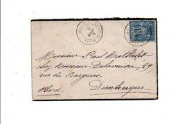 SAGE SUR LETTRE DE RULLY SAONE ET LOIRE DU 17/3/1881 - Marcophilie (Lettres)