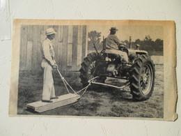 """USA Louisiane - Tracteur Américain Avec Traineau Coupe-Patate """"Tractor Sled Potato Cutter"""" -Coupure De Presse De 1948 - Tractors"""