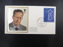 """BELG.1986  2204 FDC  Zijde/soie( Roeselare) : """"  Koning Boudewijnstichting/ Fondation Roi Baudouin """" - FDC"""