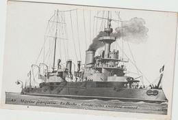 R 1 -    Bateau :  Guerre , Marine  Française , LE  Hoche  , Cuirassé  Amiral - Guerra