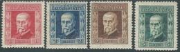 1925 CECOSLOVACCHIA PRESIDENTE TOMAS GARRIGUE MASARYK 4 VALORI MH * - RC17-2 - Ungebraucht