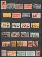 France Colis Postaux Lot N°2 66 Tp 1892-1960 O - Pacchi Postali