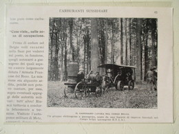 Congo Belge - Tracteur Forestier Avec Groupe Gazogène ETIA  - Coupure De Presse Italienne De 1928 - Tracteurs
