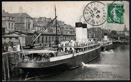 Dieppe Bateau Le Paquebot Newhaven Au Moment Du Départ Port Bateau Cachet Machine Daguin 23 06 1912 TB - Dieppe