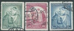 1936 CECOSLOVACCHIA USATO PRO INFANZIA GENNAIO 3 VALORI - RC20-2 - Gebruikt