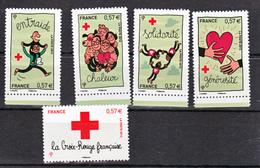 France 4699/4703 Croix Rouge Neuf TB ** MNH Sin Charnela Prix De La Poste  2.85 - Neufs