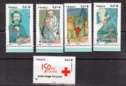 France 4910/4914 Croix Rouge Neuf TB ** MNH Sin Charnela Prix De La Poste  3.05 - Neufs