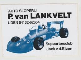 Sticker: Formula 1 - Formule 1 Auto Sloperij P.van Lankveld Uden (NL) Supportersclub Jack V.d. Elzen - Automobile - F1