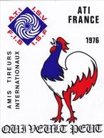 Autocollant Publicitaire - Tir Sportif - Armes - ATI France 1976 - Amis Tireurs Internationaux - Aufkleber