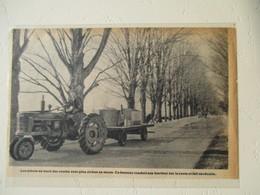 New Hampshire USA -  Tracteur Culture Sirop D'érable (Mapple Juice Culture Farmall Tractor)  - Coupure De Presse De 1950 - Tractors