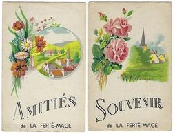 61 - LA FERTÉ-MACÉ - Lot De 2 Cartes - Souvenir - Amitiés - La Ferte Mace