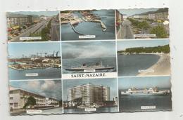 Cp, 44 ,  SAINT NAZAIRE ,  Multi Vues ,écrite 1962 - Saint Nazaire