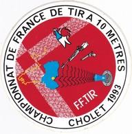 Autocollant Publicitaire - Tir Sportif - Armes - FFTir - Championnat De France CHOLET 1993 - Stickers