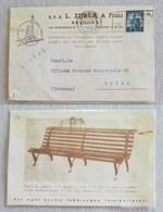 """Cartolina Postale Stampe Con Testata Pubblicitaria """"S.P.A. L. Zurla & Figli"""" Bologna Per Crema - 16/01/1950 - 6. 1946-.. Repubblica"""
