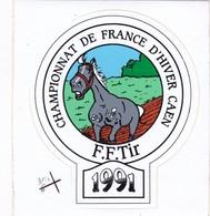 Autocollant Publicitaire - Tir Sportif - Armes - FFTir - Championnat De France D'hiver  CAEN 1991 - Autocollants