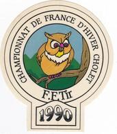 Autocollant Publicitaire - Tir Sportif - Armes - FFTir - Championnat De France D'hiver  CHOLET 1990 - Autocollants