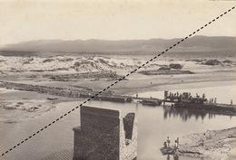 1904 Photo Geiser Alger Dégats Crue De L'oued Dermel à Duveyrier Voie De Fortune Par Les Légionnaires Légion étrangère - Lieux