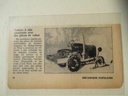 USA - Tracteur De Neige Improvisé Sur Ski ( Chevrolet Tractor Snow )  - Coupure De Presse De 1948 - Tracteurs
