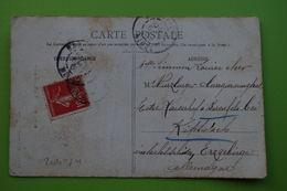 4-902 CPA Bar Le Duc Temple Protestant 1908 Carte Pour L'Allemagne Barenfels Rare Position Du Timbre Semeuse Décentrée - Agriculture