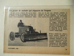 USA - Tracteur Chasse Neige Improvisé ( Tractor Snow Plot )  - Coupure De Presse De 1948 - Tractors