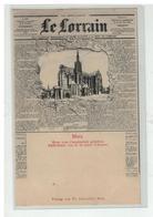 57 METZ JOURNAL LE LORRAIN DECHIRE CATHEDRALE DE LA PLACE D ARMES - Metz