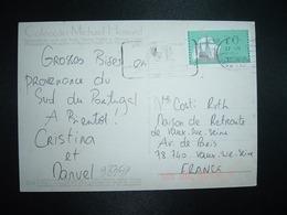 CP Pour La FRANCE TP VIGNETTE VOILIER 70 OBL.MEC.27 VII 1994 GARO - Automatenmarken (ATM/Frama)