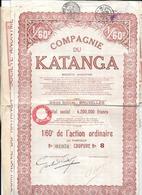Action Compagnie Du KATANGA - Actions & Titres