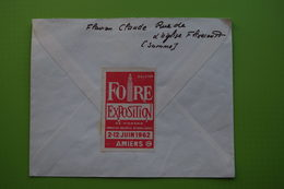 4-904 Flamme Flixecourt Somme 1962 Decaris Décalée Vignette Foire Exposition Amiens 1962 Vignette 28e Foire De Picardie - Agriculture
