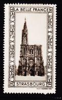 VIGN28 Cathédrale De STRASBOURG Vignette De Collection LA BELLE FRANCE 1925s Helio VAUGIRARD PARIS Erinnophilie - Commemorative Labels