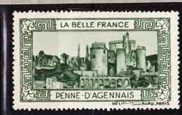 VIGN39 PENNE D'AGENNAIS Vignette De Collection LA BELLE FRANCE 1925s Helio VAUGIRARD PARIS Erinnophilie - Commemorative Labels