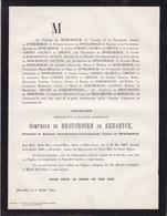 LONDERZEEL LONDERZELE Henriette Comtesse De BROUCHOVEN De BERGEYCK Veuve Jean-Baptiste De SPOELBERCH 1807-1881 - Décès