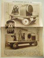 """USA  - Engin Remorque """"Projecteur Américain Publicité Dans Le Ciel""""   - Coupure De Presse De 1928 - Projecteurs"""