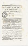 1844 REGNO DELLE DUE SICILIE DECRETO AUGUSTA TRAPANI - Decrees & Laws