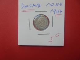 DANEMARK 10 ÖRE 1907 ARGENT (A.7) - Danemark