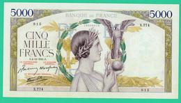 5 000 Francs - Victoire  - N° X.774 : 815 -  S.4=4=12=1941.S - TTB+  - - 1871-1952 Frühe Francs Des 20. Jh.