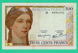 300 Francs - France - 1938 -   - N° H. 0681012  - TTB+  - Légèrement Taché - - 1871-1952 Antiguos Francos Circulantes En El XX Siglo