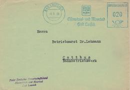 FDGB BAD Lausick Eisenvitriol & Moorbad AFS 1958 - Bäderwesen