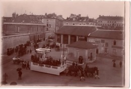 Grenoble 1911 Défilé Char - Photo - Place Octroi Poids Municipal Caserne Militaire - Lieux