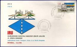 [C5439] Turkije - FDC - Intern. Road Transport Union - 13-06-1988 - FDC